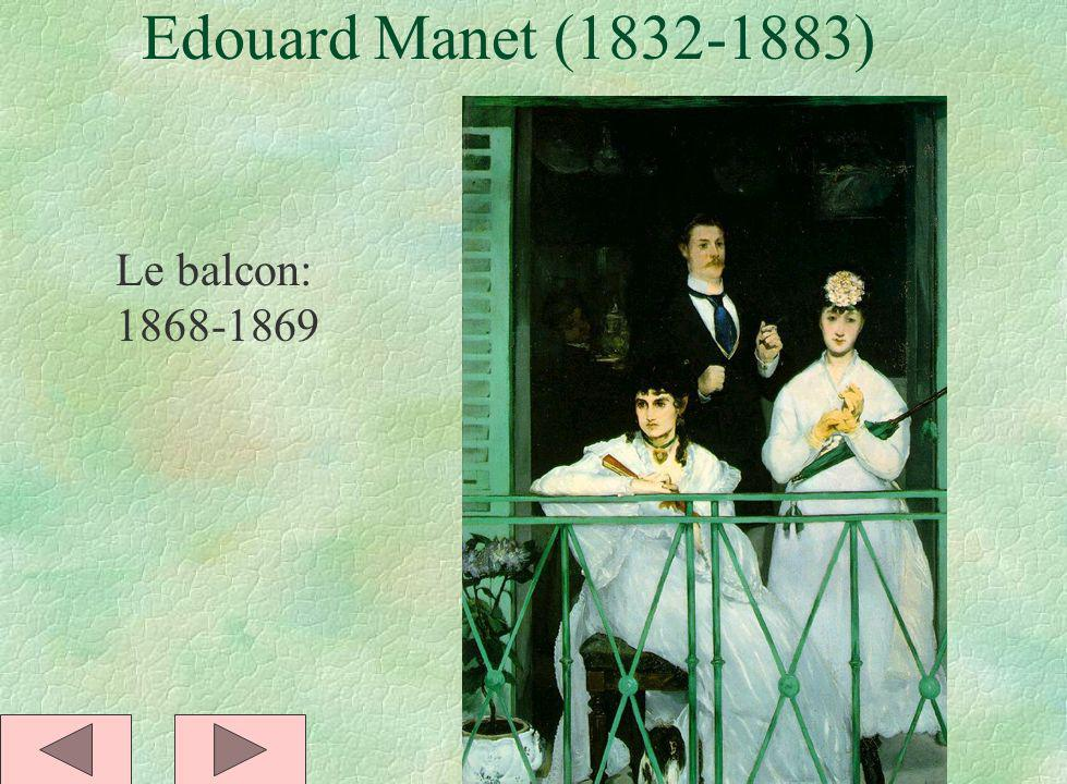 Edouard Manet (1832-1883) Le balcon: 1868-1869