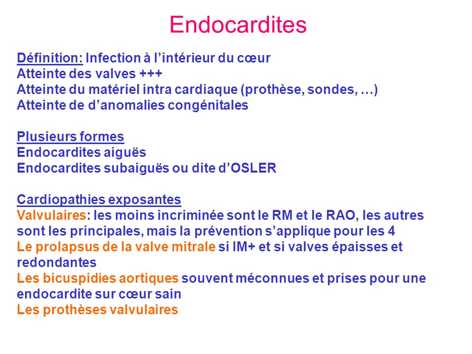 Endocardites d finition infection l int rieur du c ur for Interieur definition