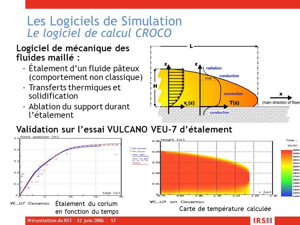 Les Logiciels de Simulation Le logiciel de calcul CROCO