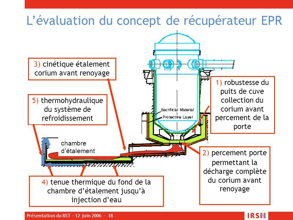 L'évaluation du concept de récupérateur EPR