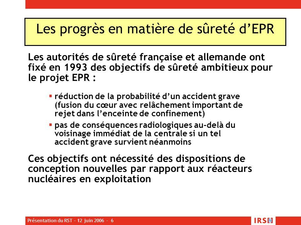 Les progrès en matière de sûreté d'EPR