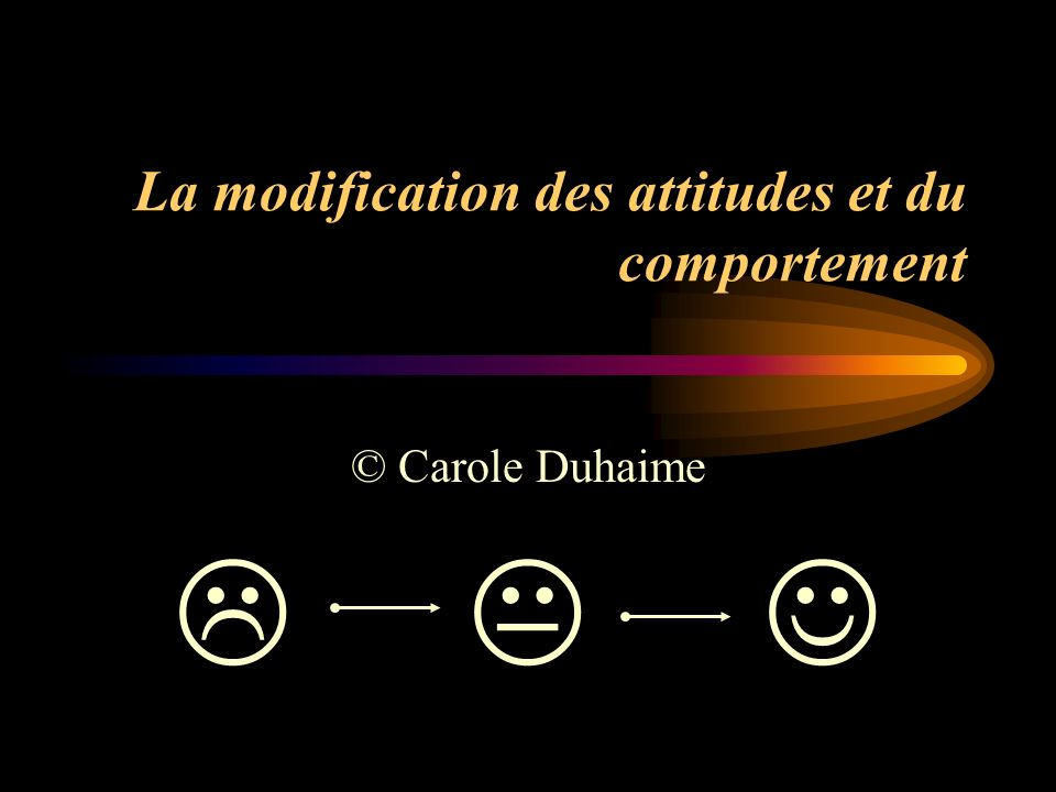 La modification des attitudes et du comportement