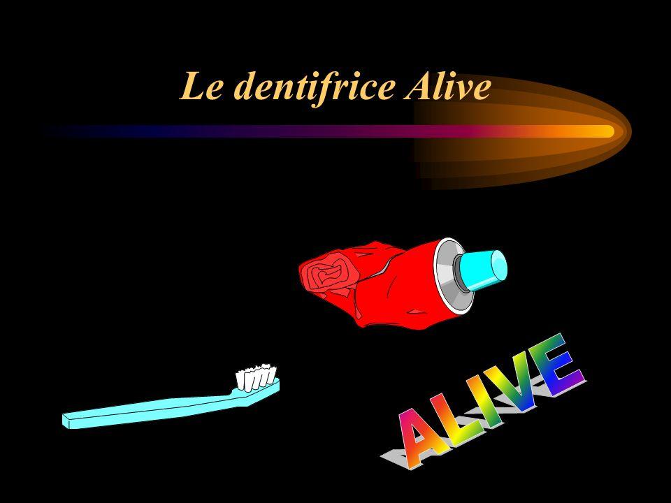 Le dentifrice Alive ALIVE
