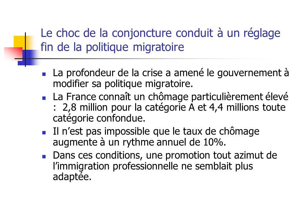 Le choc de la conjoncture conduit à un réglage fin de la politique migratoire