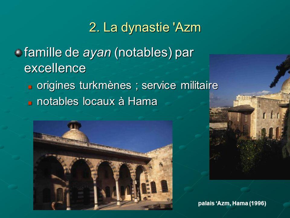 famille de ayan (notables) par excellence
