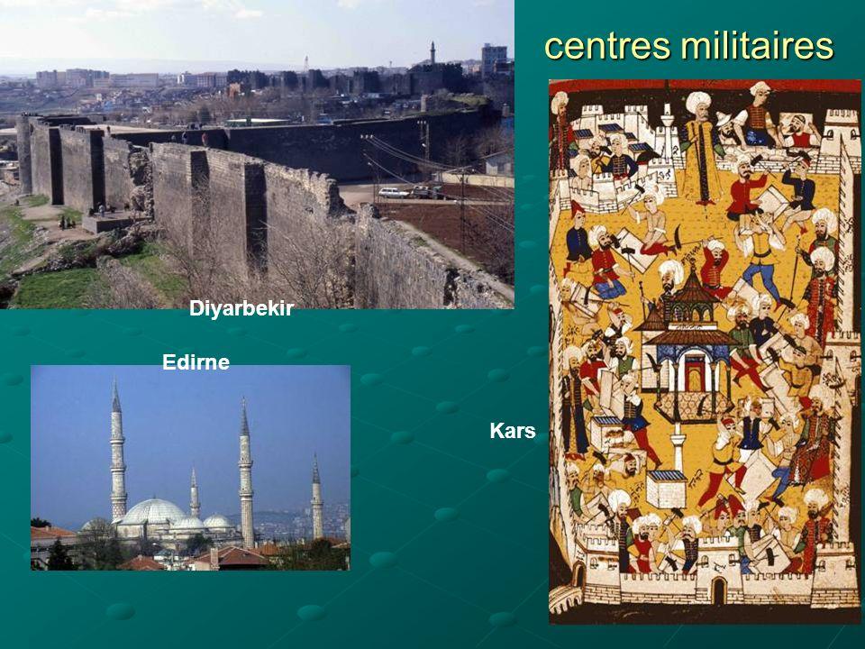 centres militaires Diyarbekir Edirne Kars