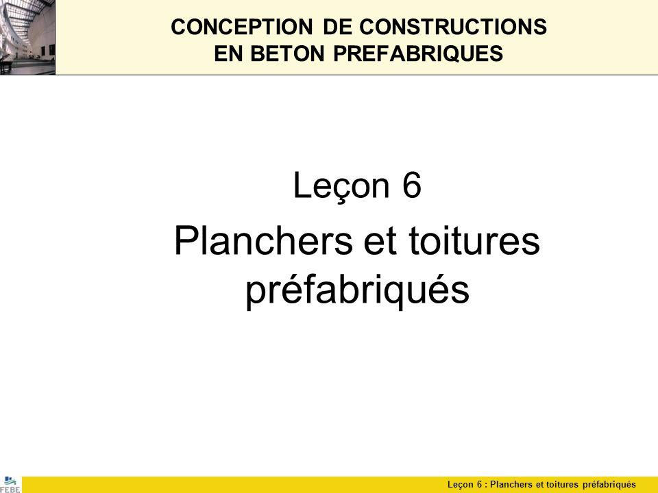 CONCEPTION DE CONSTRUCTIONS EN BETON PREFABRIQUES