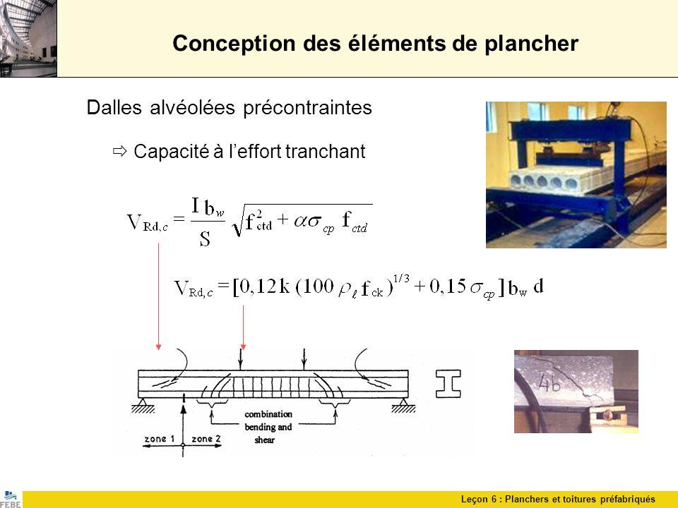 Conception des éléments de plancher