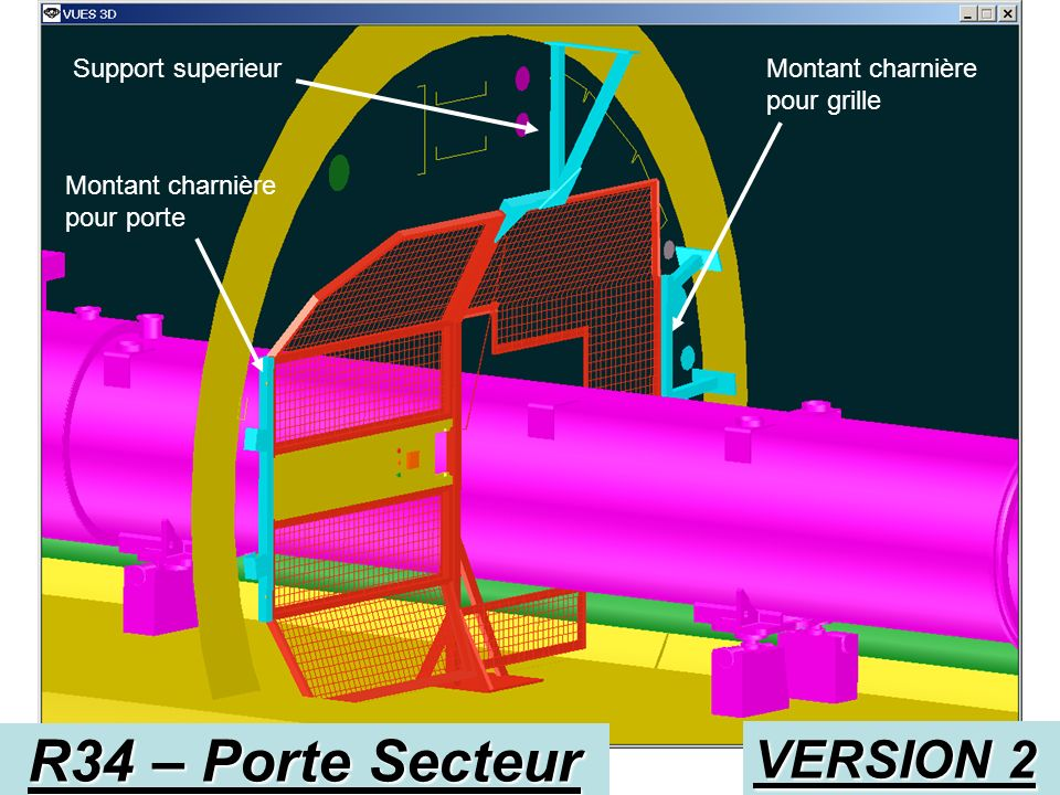 R34 – Porte Secteur VERSION 2 Support superieur