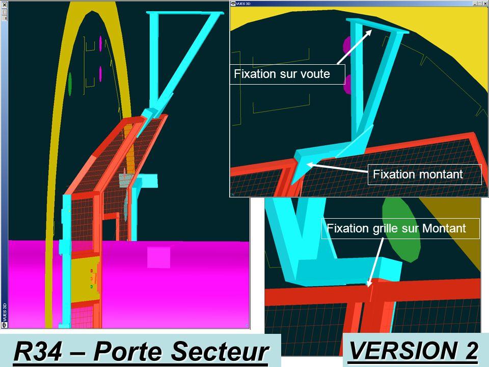R34 – Porte Secteur VERSION 2 Fixation sur voute Fixation montant
