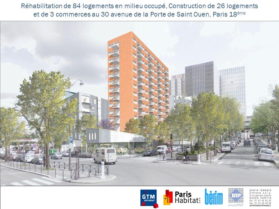 et de 3 commerces au 30 avenue de la Porte de Saint Ouen, Paris 18ème
