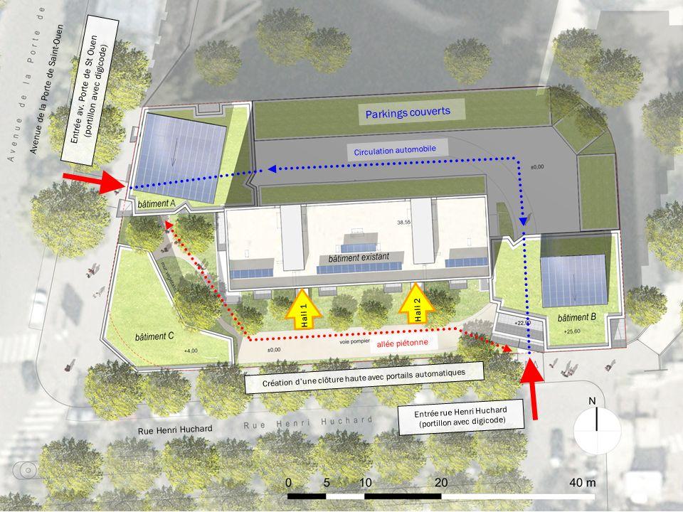 Plan Masse : accès depuis rues