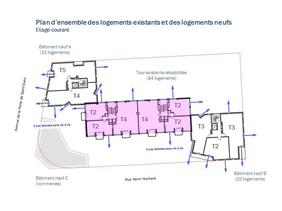 Plan général étage type