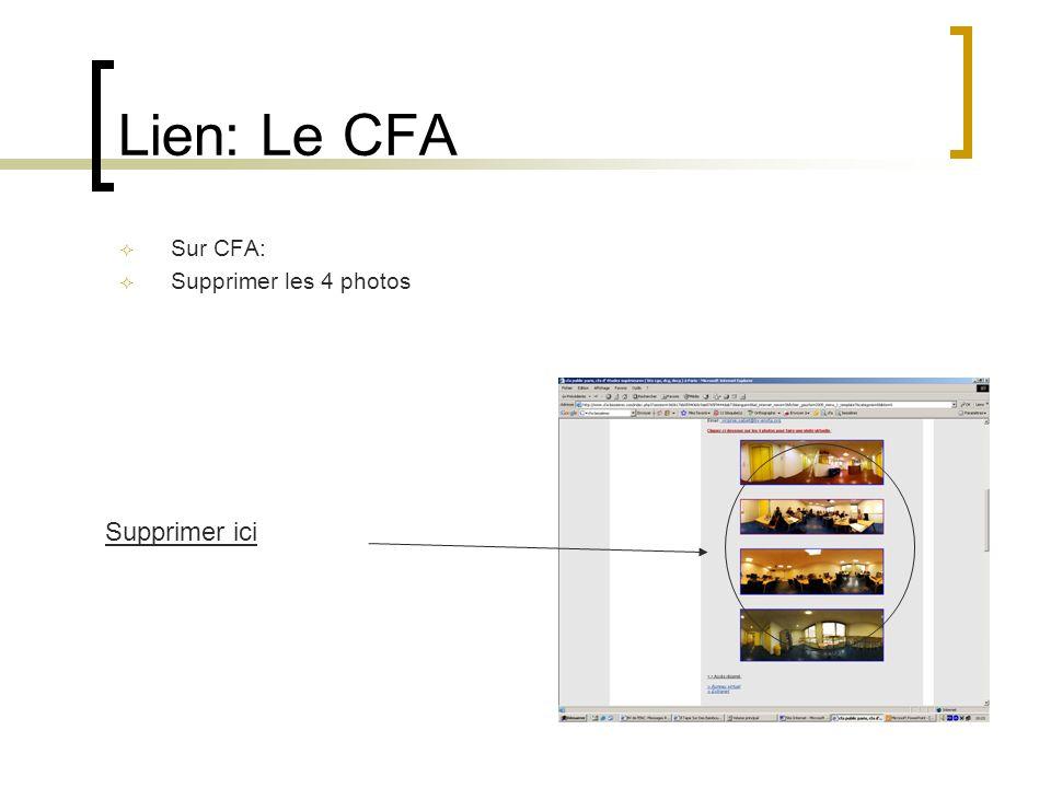Lien: Le CFA Sur CFA: Supprimer les 4 photos Supprimer ici