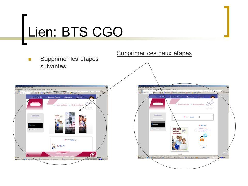 Lien: BTS CGO Supprimer ces deux étapes