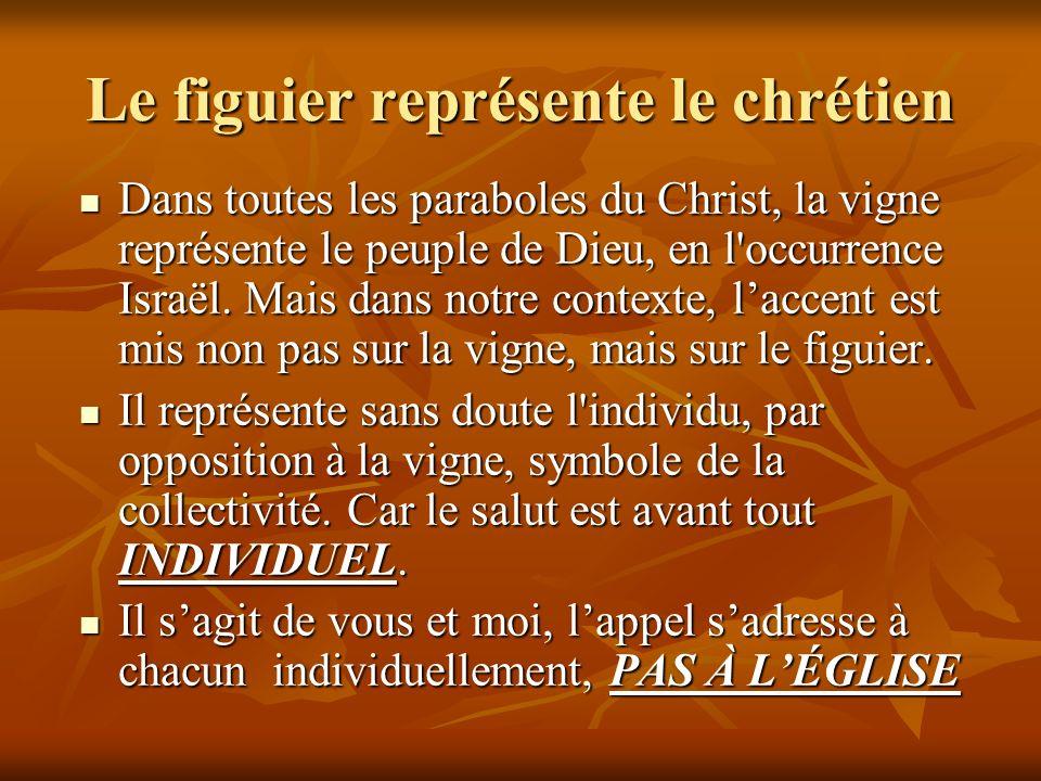 Le figuier représente le chrétien