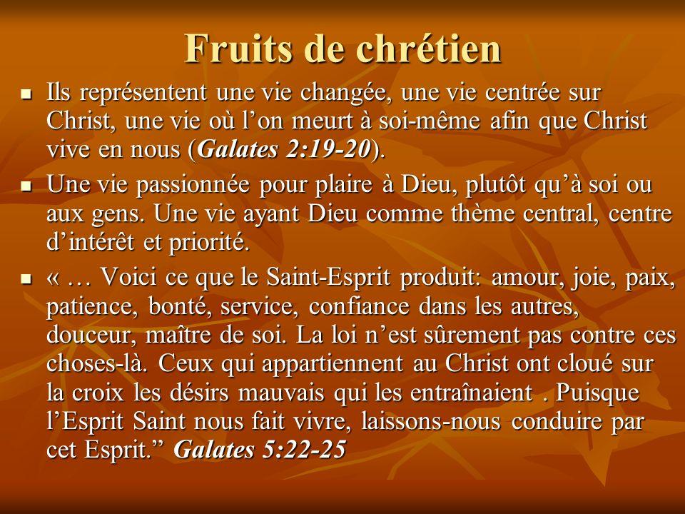 Fruits de chrétien