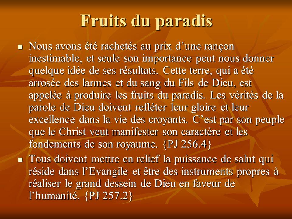 Fruits du paradis
