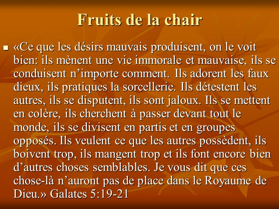 Fruits de la chair