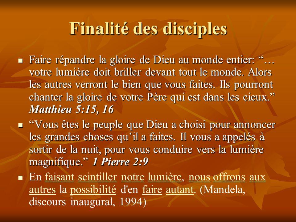 Finalité des disciples