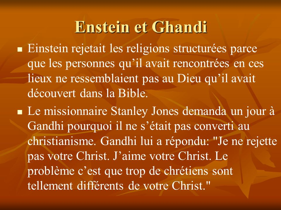 Enstein et Ghandi