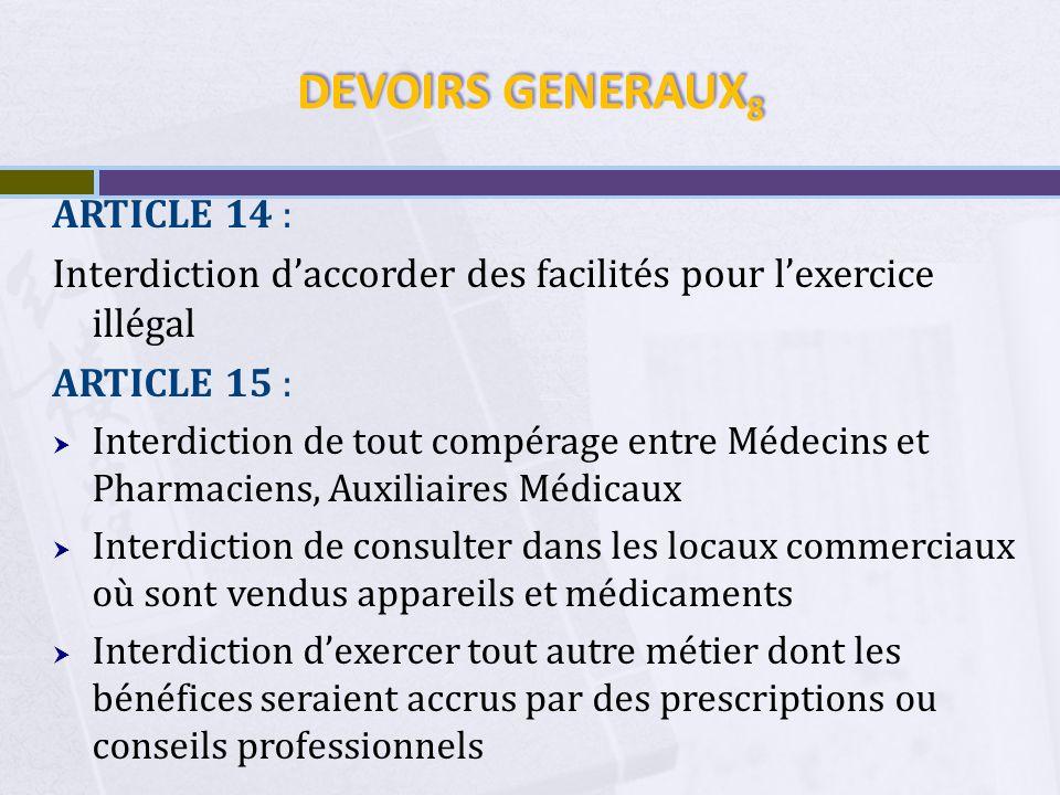 DEVOIRS GENERAUX8 ARTICLE 14 :
