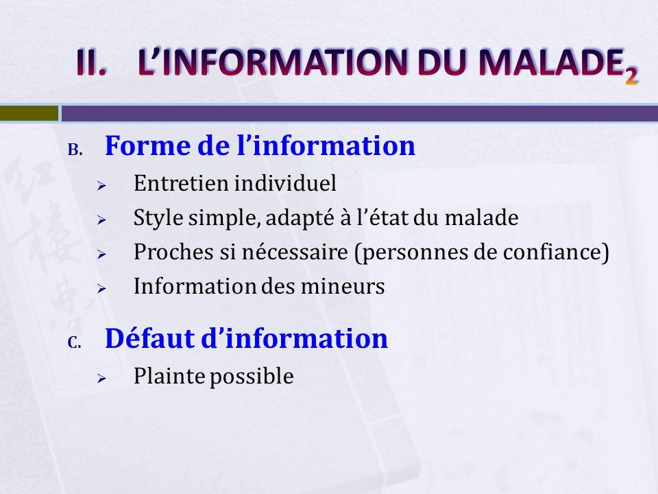 L'INFORMATION DU MALADE2