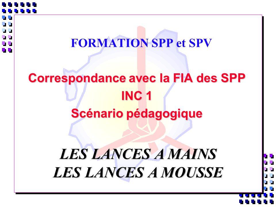 Correspondance avec la FIA des SPP INC 1 Scénario pédagogique