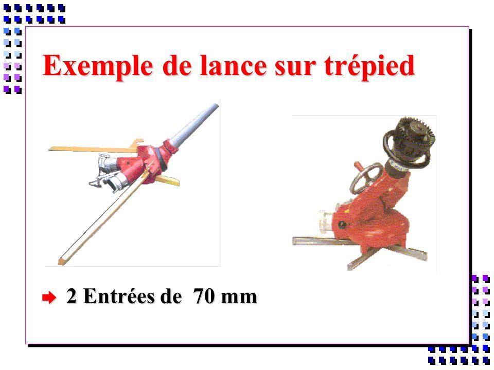 Exemple de lance sur trépied