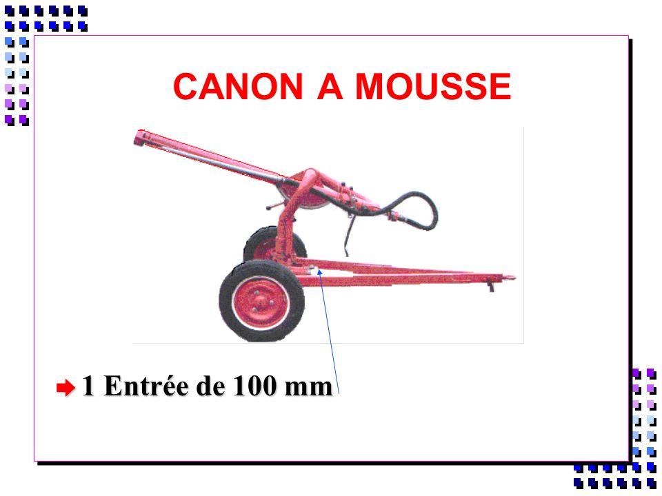 CANON A MOUSSE 1 Entrée de 100 mm