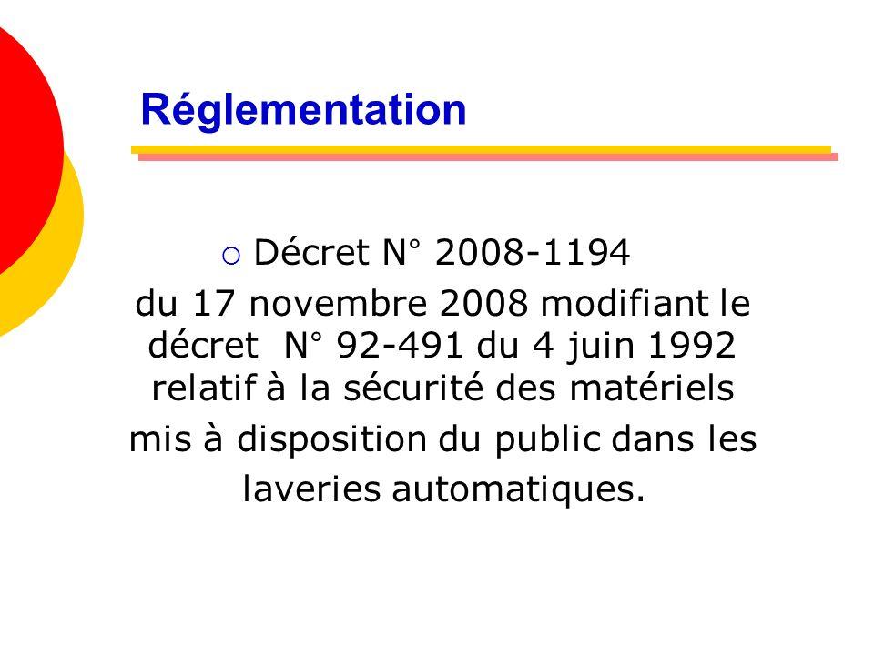 Réglementation Décret N° 2008-1194