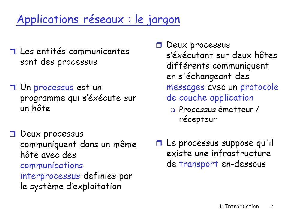 Applications réseaux : le jargon