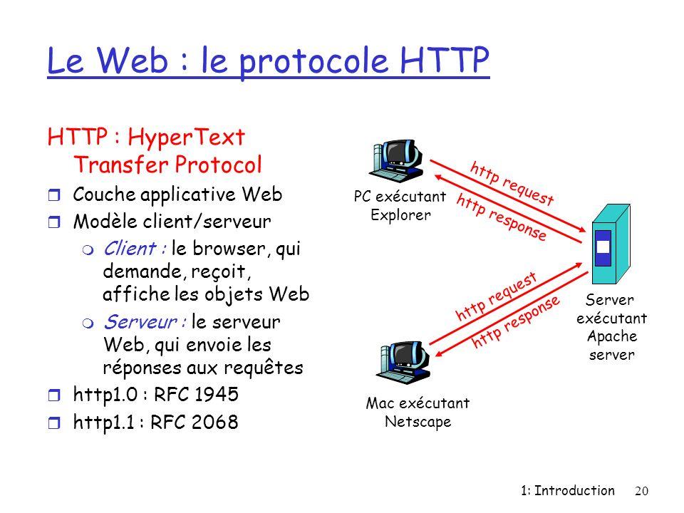 Le Web : le protocole HTTP