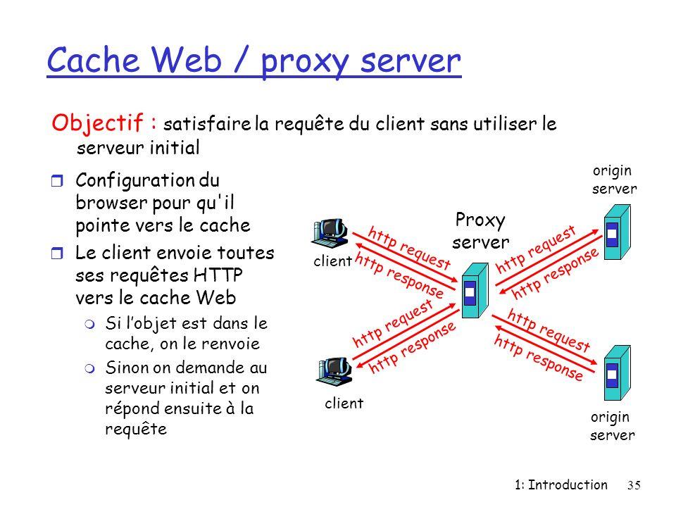 Cache Web / proxy server