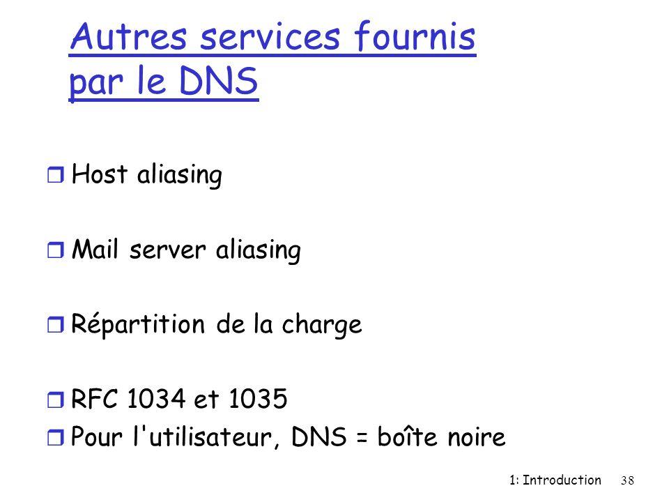 Autres services fournis par le DNS