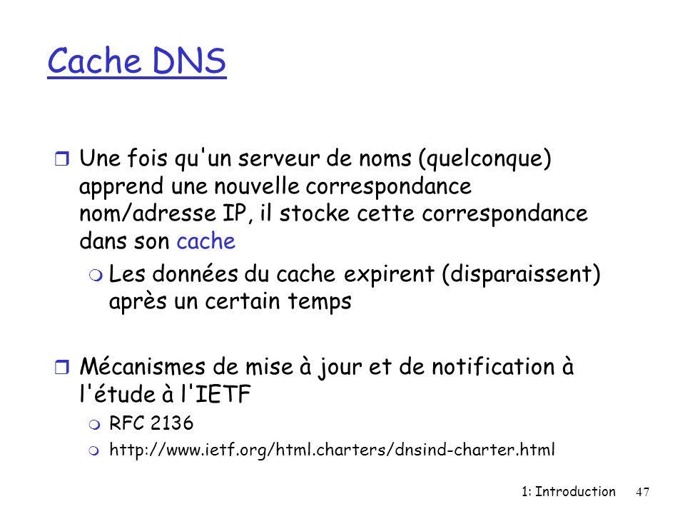 Cache DNS