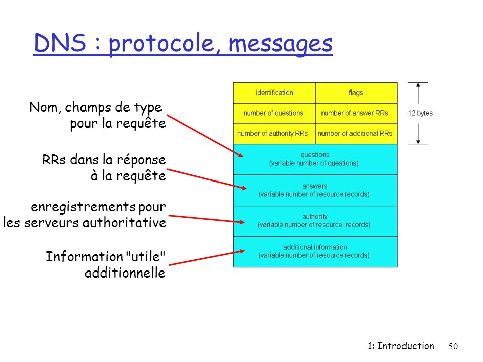 DNS : protocole, messages