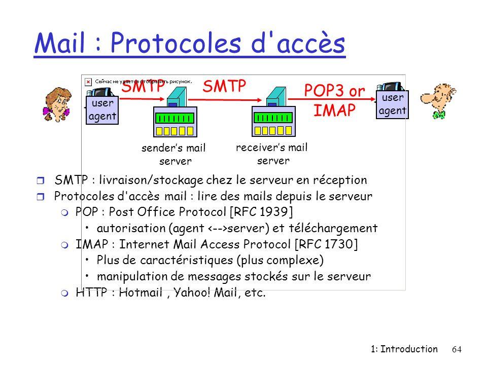 Mail : Protocoles d accès