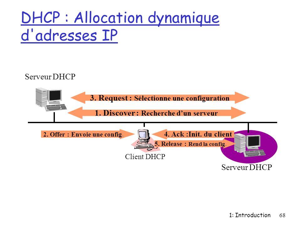 DHCP : Allocation dynamique d adresses IP