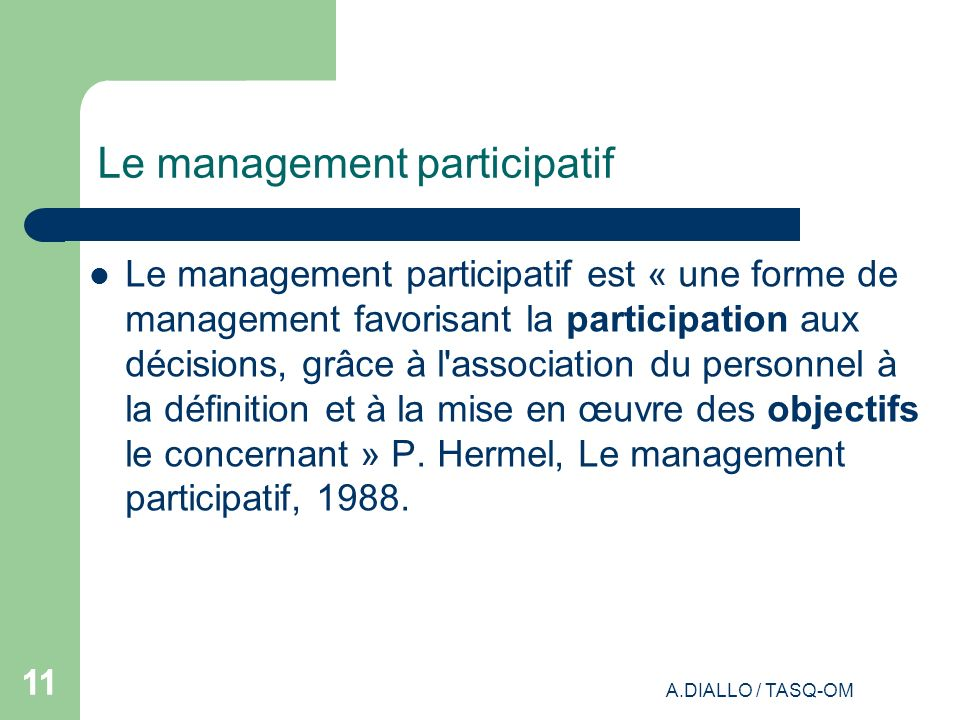 Le management participatif