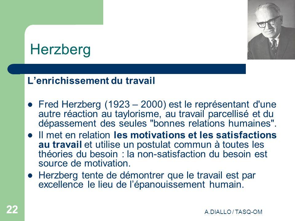 Herzberg 22 L'enrichissement du travail