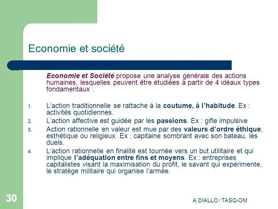 Economie et société