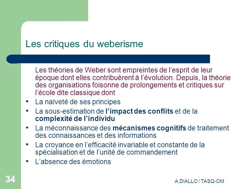 Les critiques du weberisme