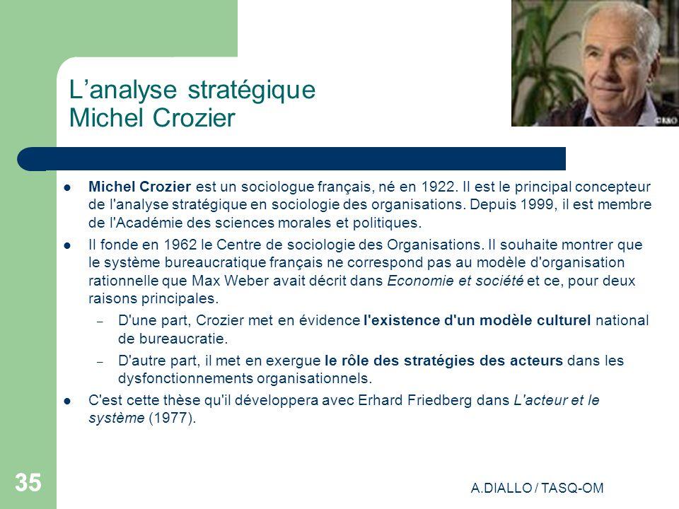 L'analyse stratégique Michel Crozier