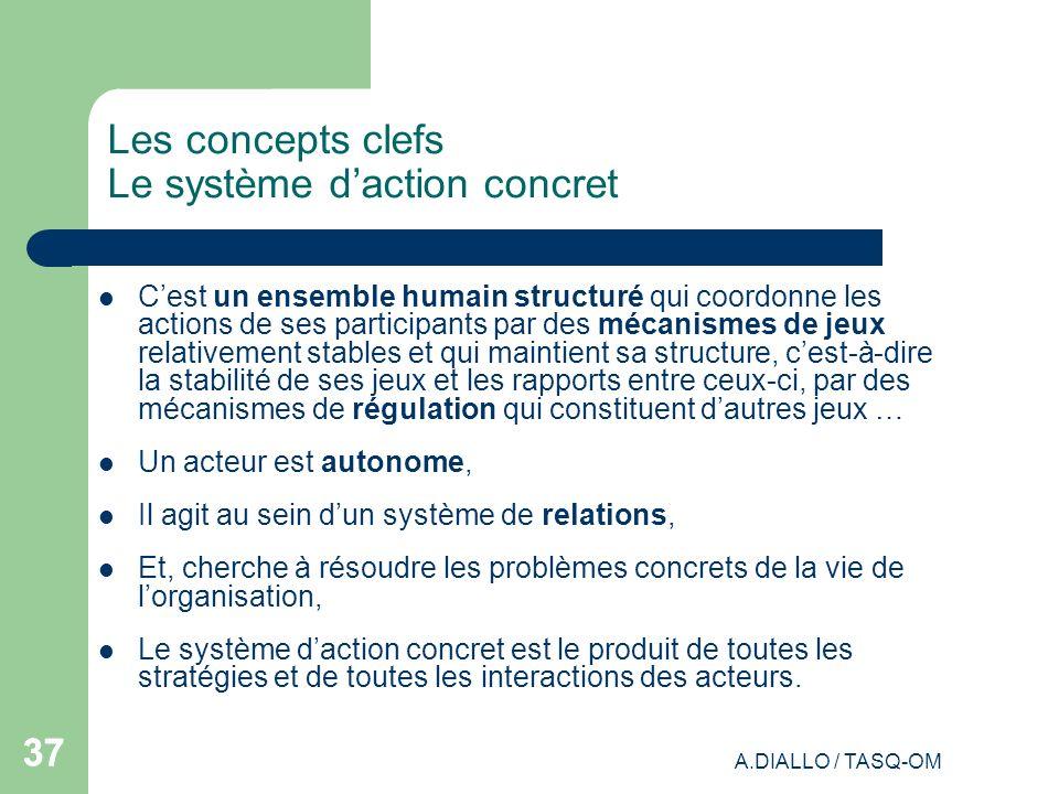 Les concepts clefs Le système d'action concret