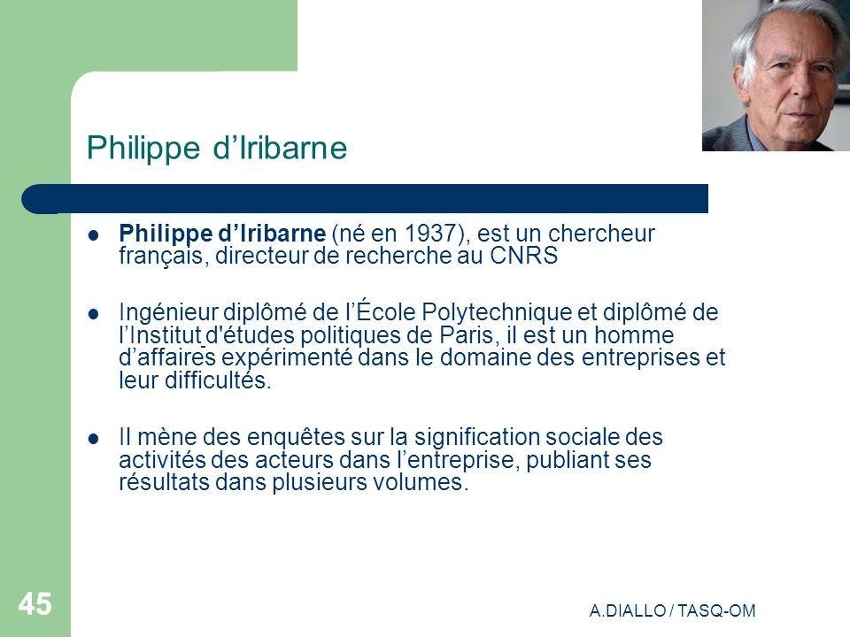 Philippe d'Iribarne Philippe d'Iribarne (né en 1937), est un chercheur français, directeur de recherche au CNRS.