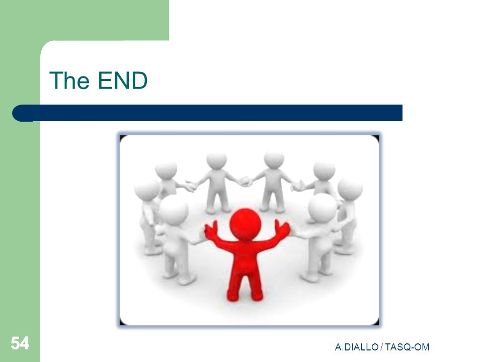The END 54 A.DIALLO / TASQ-OM
