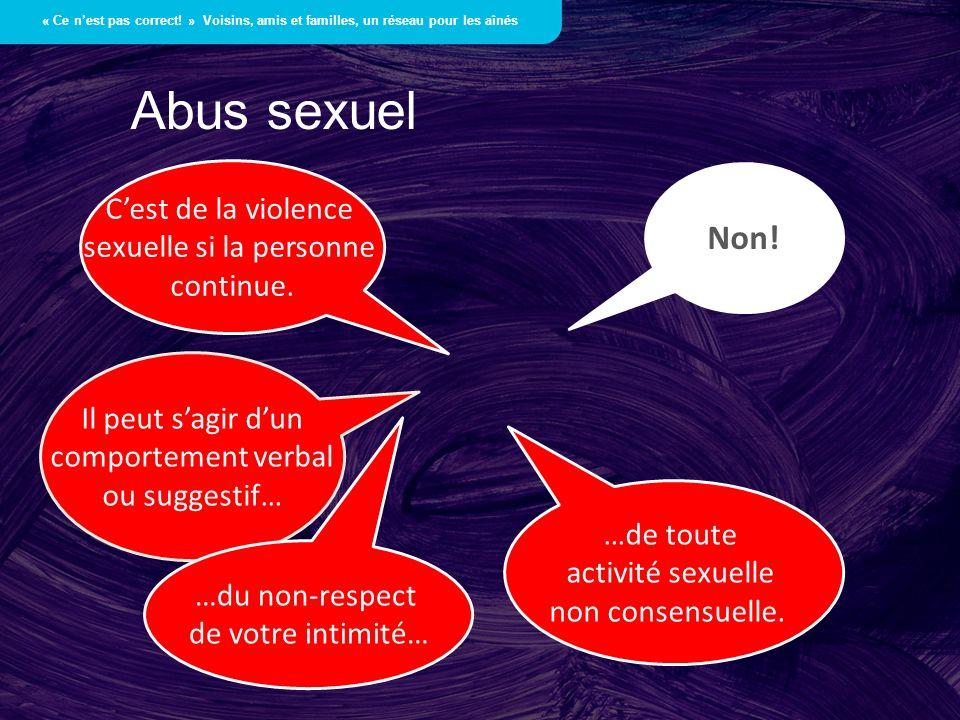 sexuelle si la personne