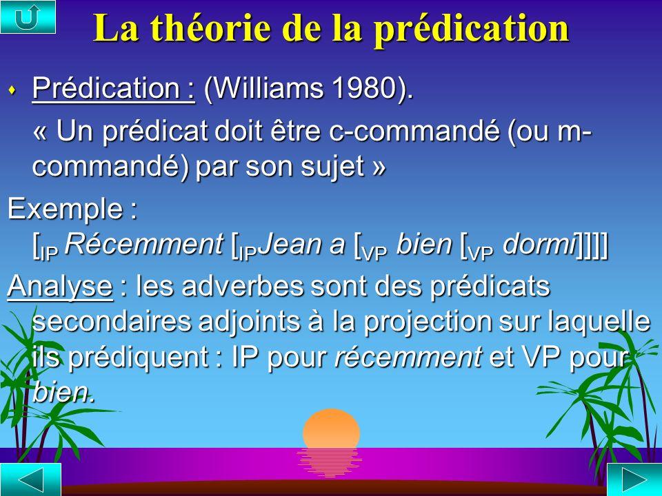 La théorie de la prédication