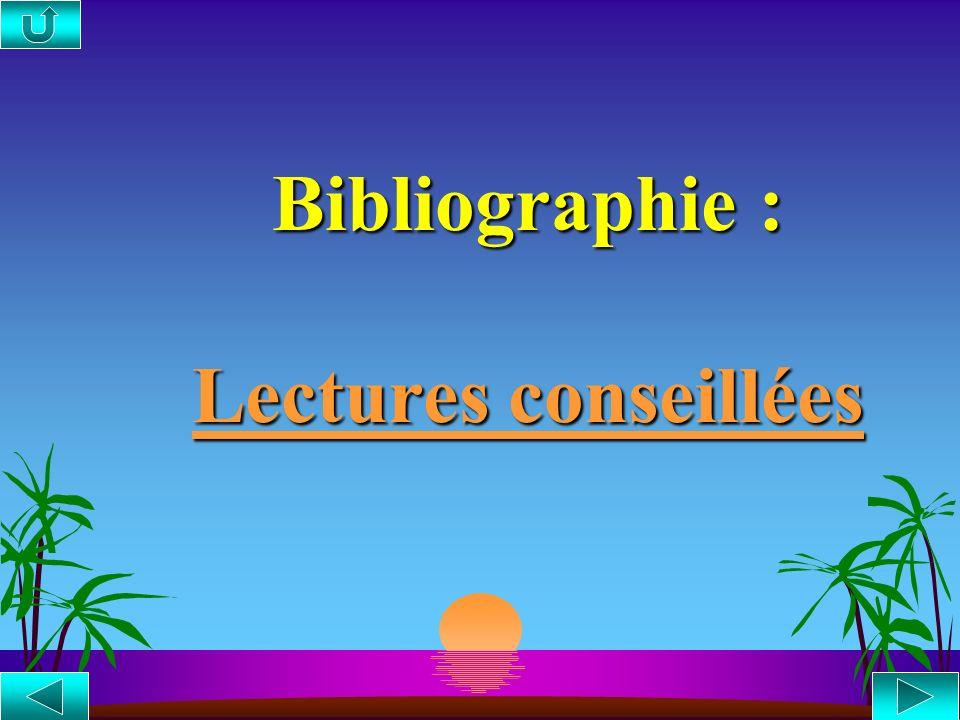 Bibliographie : Lectures conseillées